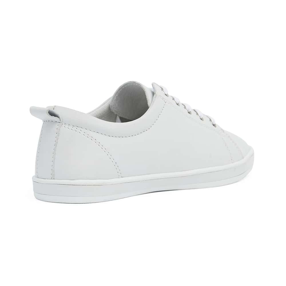 Waffle Sneaker in White Leather