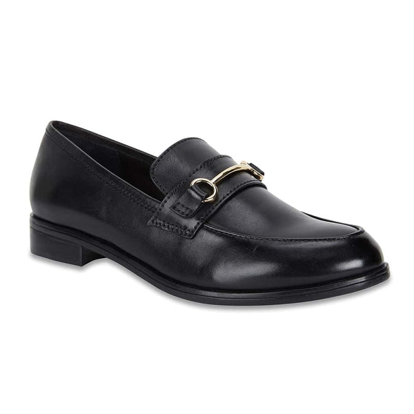 Wallis Loafer in Black Leather