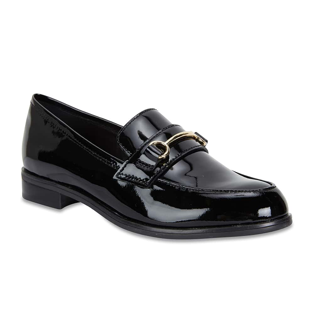 Wallis Loafer in Black Patent