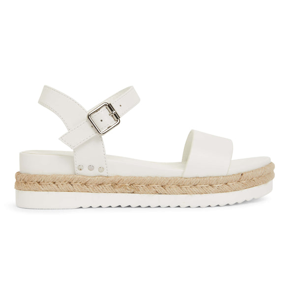 Wander Espadrille in White Smooth