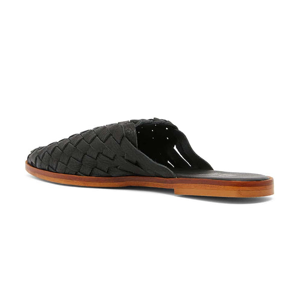 Watson Slide in Black Leather