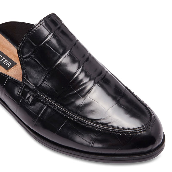 West Loafer in Black Croc Leather