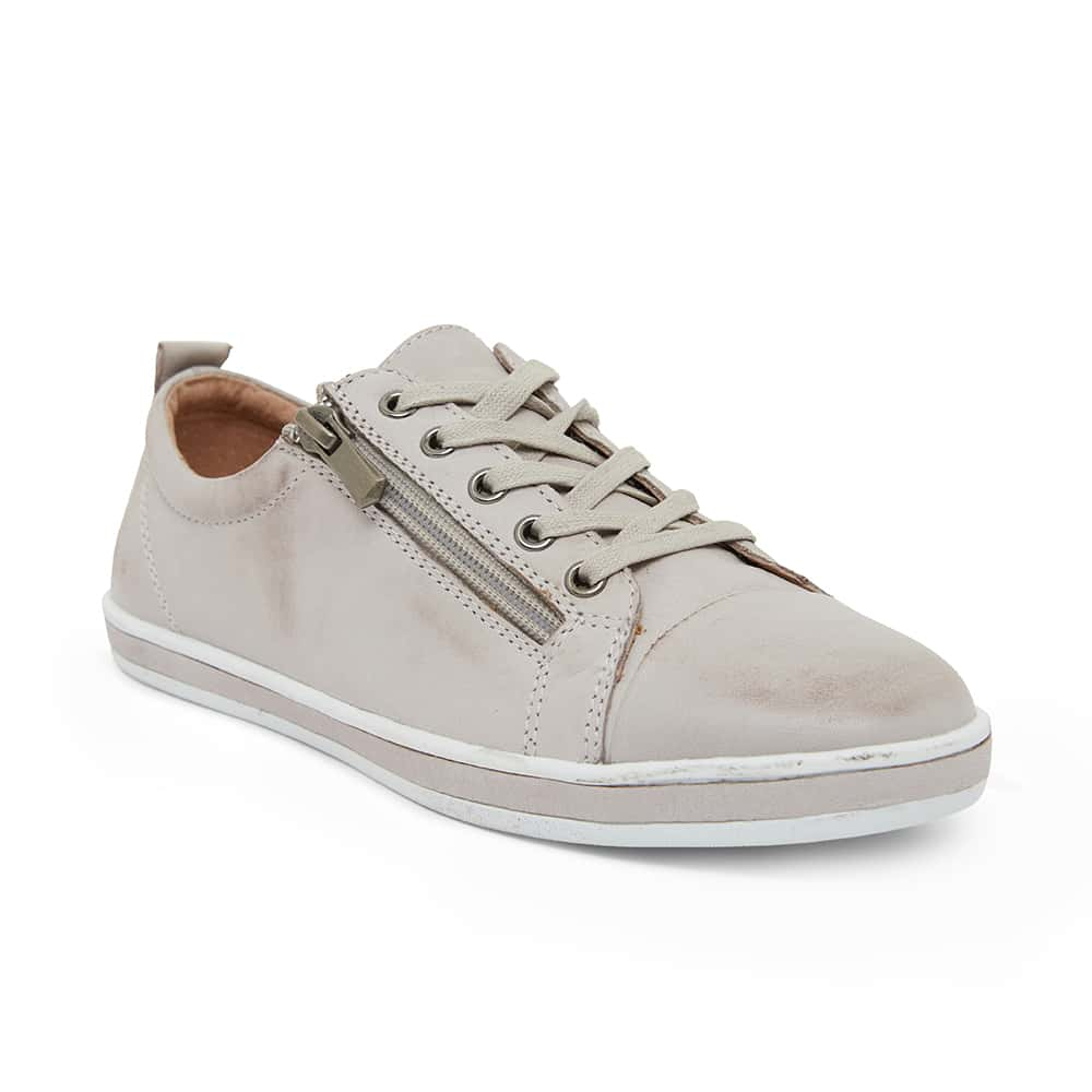 Whisper Sneaker in Light Grey Glove Leather