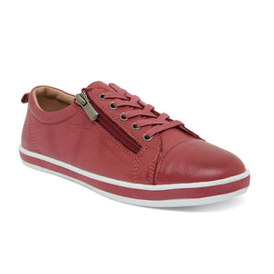 Whisper Sneaker in Red Leather