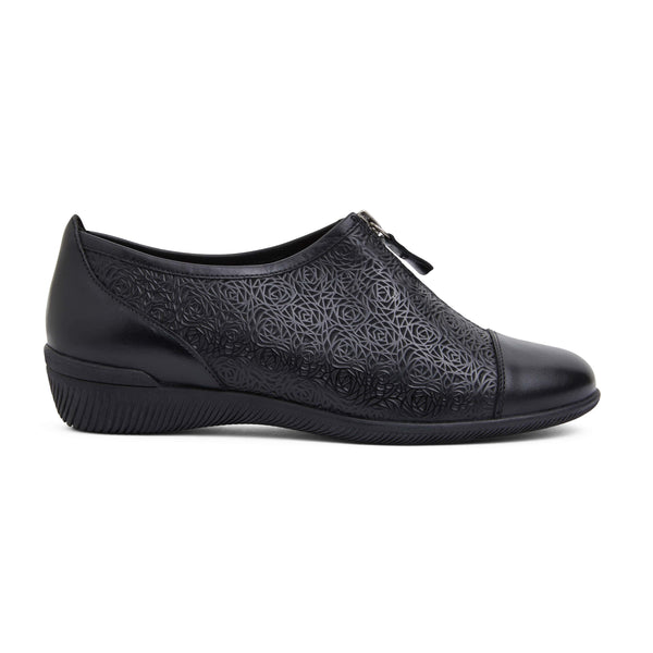Wiley Brogue in Black Leather