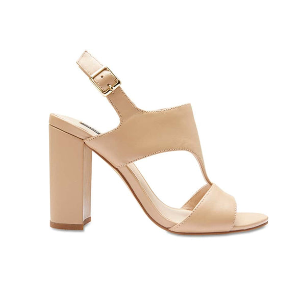 Wizard Heel in Nude Leather