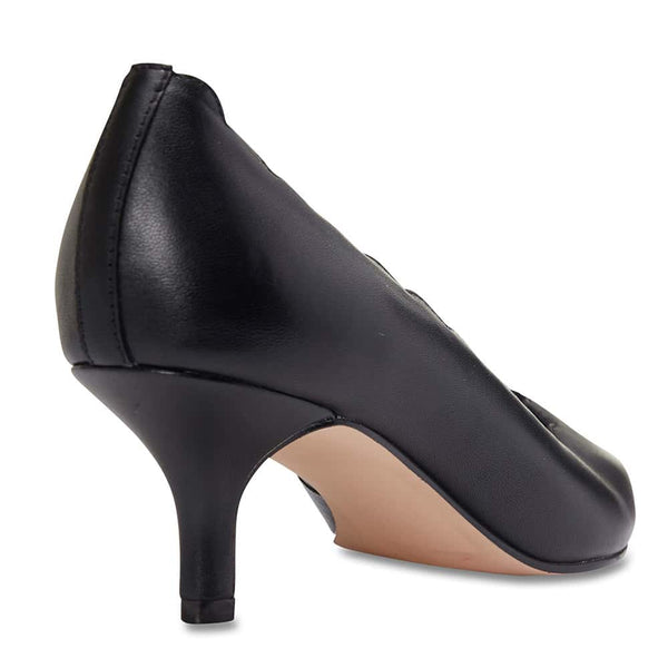 Zanna Heel in Black Leather