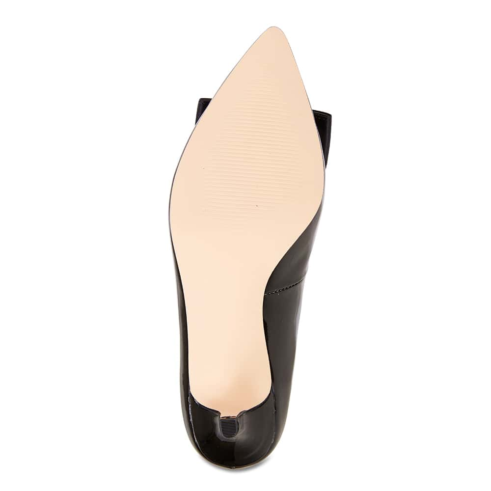 Zara Heel in Black Patent