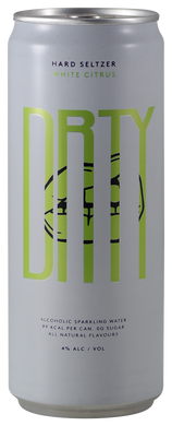 DRTY - Hard Seltzer - Citrus - White