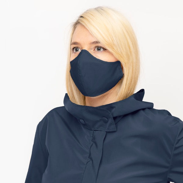 Blue Double Layer, Reusable Face Mask - Made in Italy - PiaKo Store