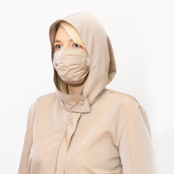 Taupe Double Layer, Reusable Face Mask - Made in Italy - PiaKo Store