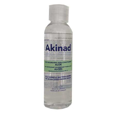 Akinad Hand Sanitizer – 70% Ethyl Alcohol With Aloe – 120 mL