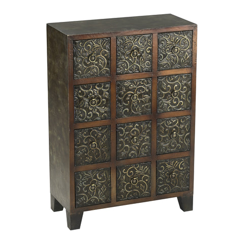 Cyan Design Embossed Cabinet - 00790 - Chachkies