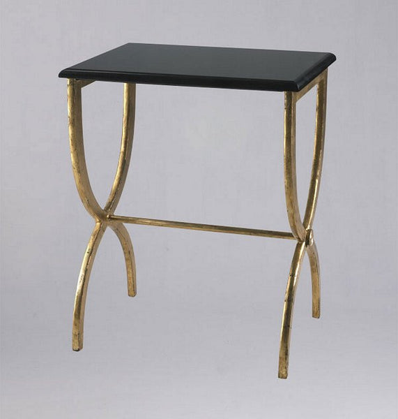 Cyan Design Black With Gold Legs Accent Table - 01319 - Chachkies