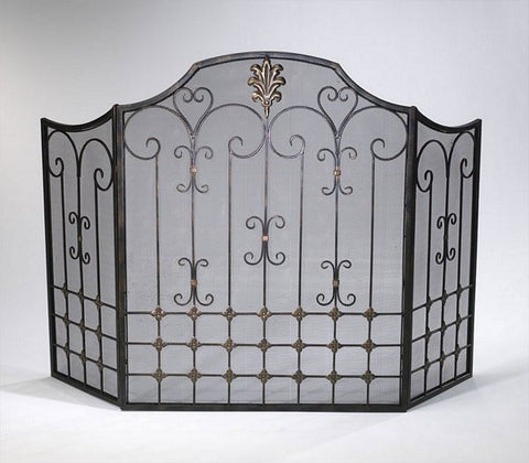 Cyan Design Bronze Fire Screen - 01349 - Chachkies