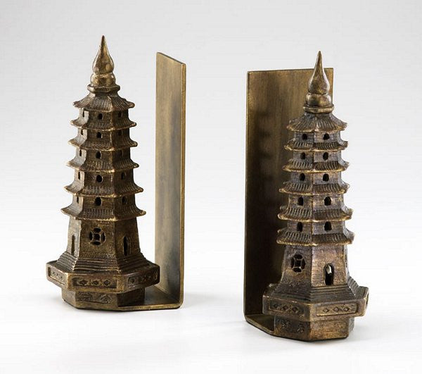 Cyan Design Pagoda Bookends - 02270 - Chachkies