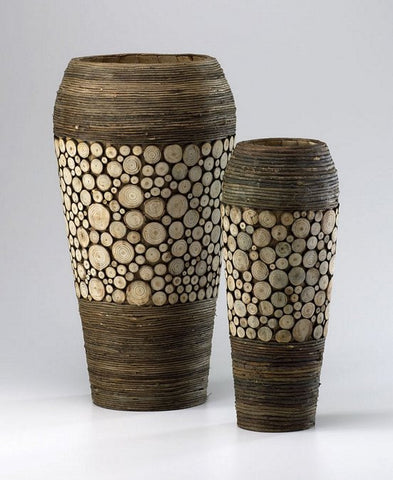 Cyan Design Wood Slice Oblong Vases - 02520 - Chachkies