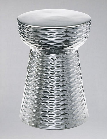 Cyan Design Chrome Cone Stool - 04150 - Chachkies