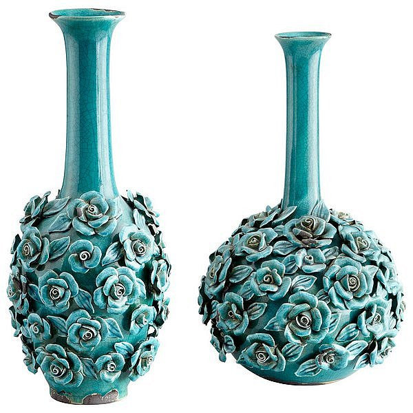 Cyan Design Tall Blue Nile Rose Vase - 05137 - Chachkies