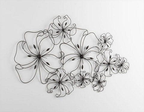Cyan Design Six Flower Fancy Wall Art - 05833 - Chachkies
