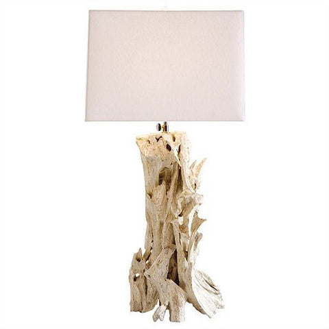 Arteriors Home Bodega Distressed White Driftwood Table Lamp - Chachkies