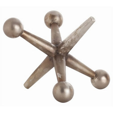 Arteriors Home Jack Antique Nickel Sculpture, Large