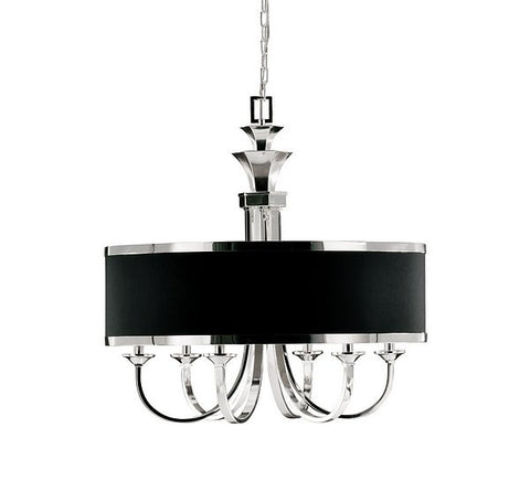 Tuxedo 6-Lt Single Shade Chandelier