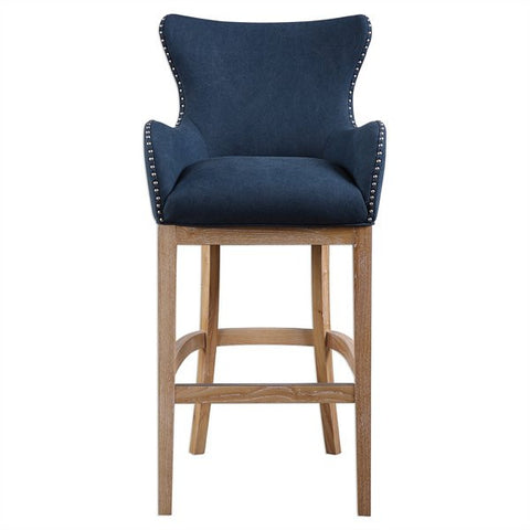 Barton Denim Blue Bar Stool