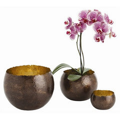 Arteriors Home Alessandria Bronze Hammered Bowls, Set/3 - Chachkies
