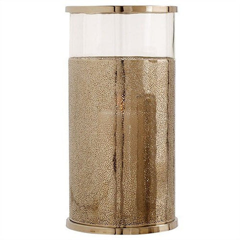 Arteriors Home Bombay Large Polished Nickel/Glass Hurricane - Chachkies