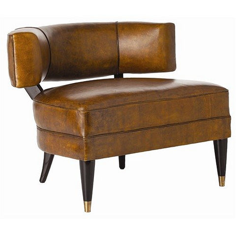 Arteriors Home Laurent Glazed Top Grain Leather/Solid Wood Chair