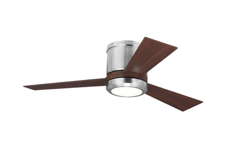 "Monte Carlo 42"" Clarity II - Brushed Steel - Ceiling Fan 3CLYR42BSD - Chachkies"
