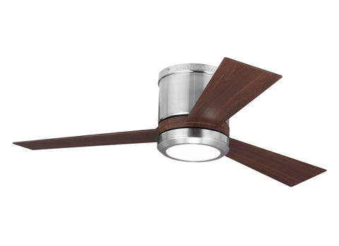 "Monte Carlo 42"" Clarity II - Brushed Steel Ceiling Fan - 3CLYR42BSD"