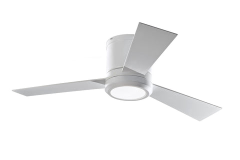 "Monte Carlo 42"" Clarity II - Rubberized White - Ceiling Fan 3CLYR42RZWD - Chachkies"