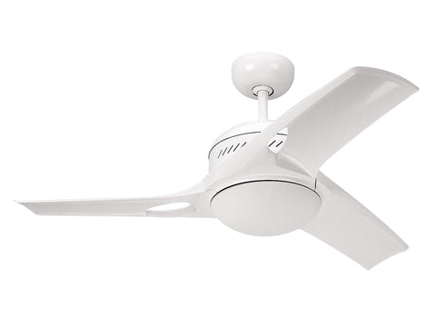 Monte Carlo 38' Mach Two Fan - White Ceiling Fan - 3MTR38WHO-L