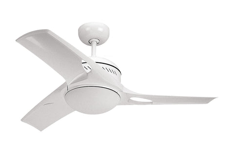 "Monte Carlo 38"" Mach Two Fan - White - Ceiling Fan 3MTR38WHO-L - Chachkies"