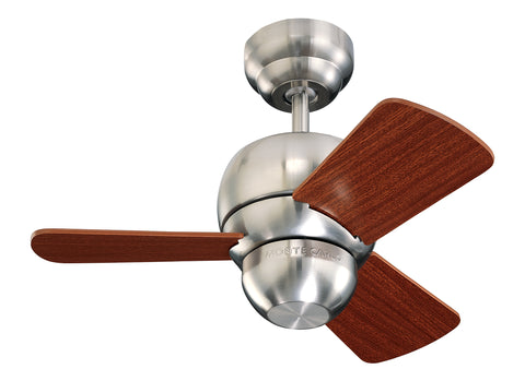 Monte Carlo 24' Micro 24 Fan - Brushed Steel Ceiling Fan - 3TF24BS
