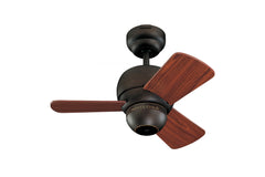 "Monte Carlo 24"" Micro 24 Fan - Roman Bronze - Ceiling Fan 3TF24RB - Chachkies"
