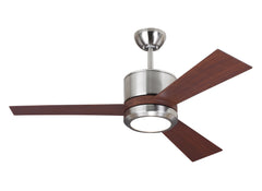 "Monte Carlo 42"" Vision II - Brushed Steel Ceiling Fan - 3VNR42BSD"
