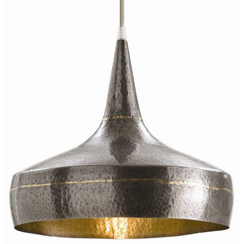 Arteriors Home Mason Wide Hammered Iron Pendant