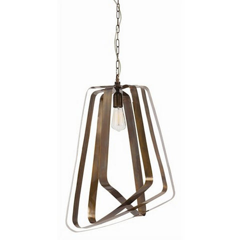 Arteriors Home Adele Vintage Brass Pendant - Chachkies
