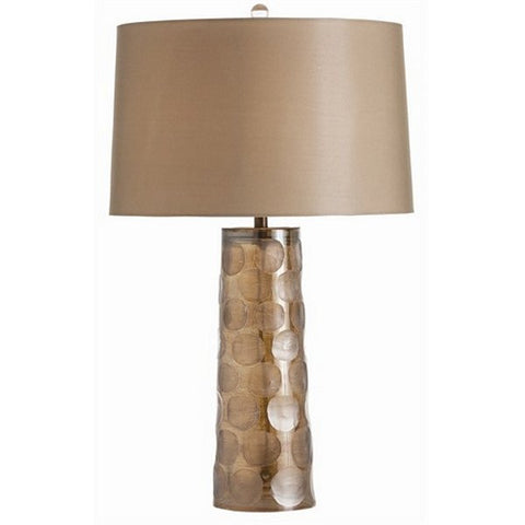 Arteriors Home Callie Smoke Luster Etched Dot Glass Lamp - Chachkies