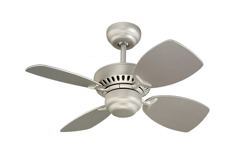 "Monte Carlo 28"" Colony II Fan - Brushed Pewter - Ceiling Fan 4CO28BP - Chachkies"