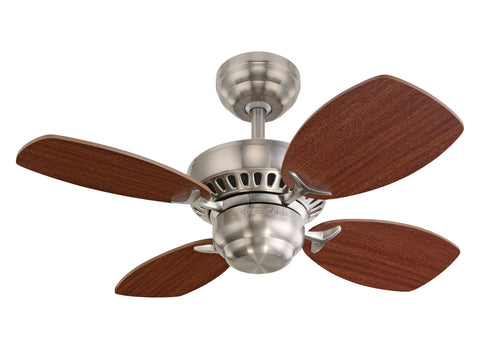 Monte Carlo 28' Colony II Fan - Brushed Steel Ceiling Fan - 4CO28BS