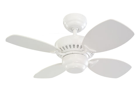 "Monte Carlo 28"" Colony II Fan - White - Ceiling Fan 4CO28WH - Chachkies"