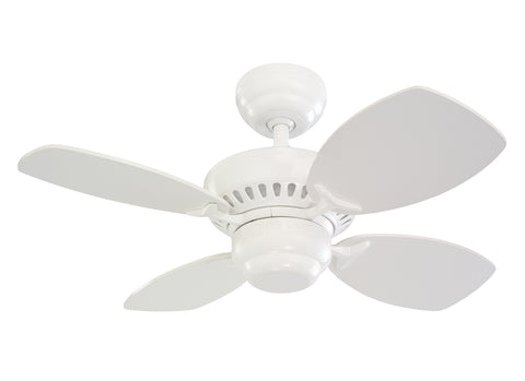 Monte Carlo 28' Colony II Fan - White Ceiling Fan - 4CO28WH