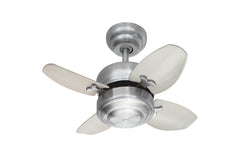 "Monte Carlo 20"" Mini 20 Fan - Brushed Steel - Ceiling Fan 4MC20BS - Chachkies"