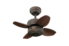 "Monte Carlo 20"" Mini 20 Fan - Roman Bronze - Ceiling Fan 4MC20RB - Chachkies"