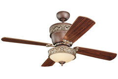 "Monte Carlo 42"" or 28"" Villager Fan - Tuscan Bronze - Ceiling Fan 4VG42/28TBD-L - Chachkies"