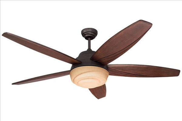 Montecarlo Anglia 56'' 5 Blade Carved Dark Walnut Ceiling Fan - 5AGR56RBD - Chachkies